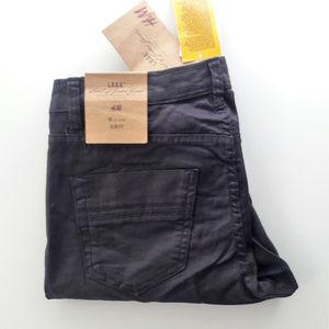 NWT H&M Brown Waxed Slim Fit Jeans, runs small